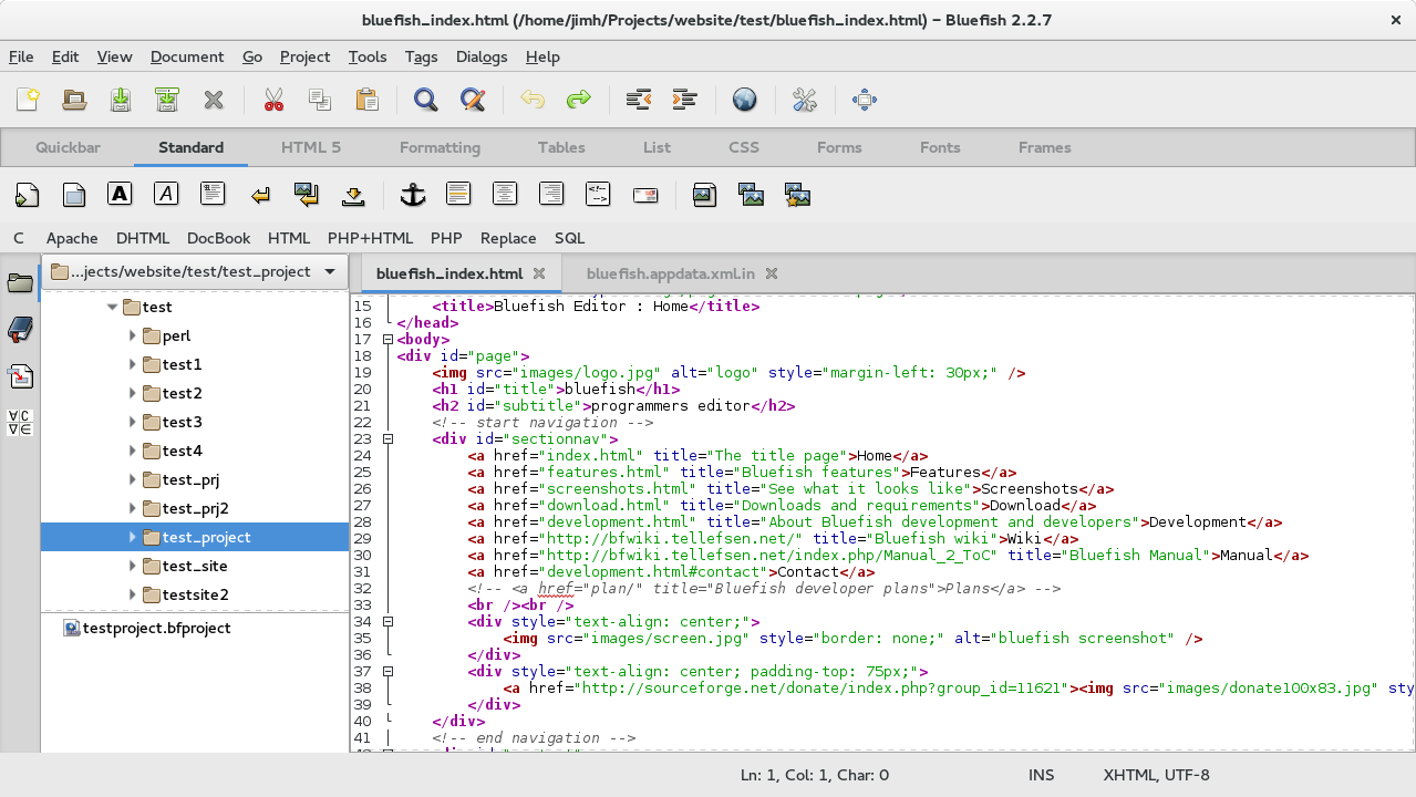Bluefish 2. 2. 10 free download, linux | icewalkers.