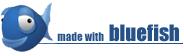 Verdens Navle og alle undersider er bygget med Blue fisk på Linux