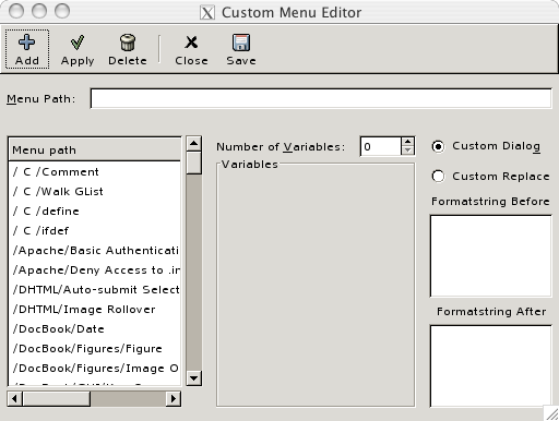 7  Custom menu